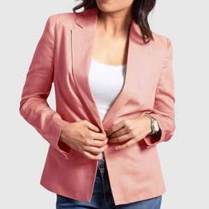 OLGYN Women's Magnolia Single Breasted Pink Blazer